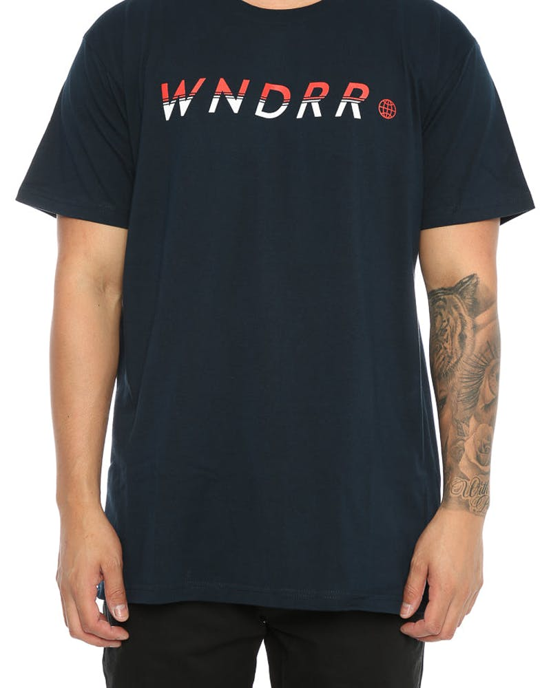 WNDRR Sports King Custom Fit Tee Navy