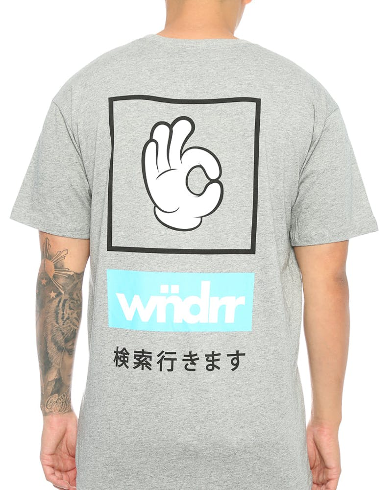 WNDRR Flying Lap Custom Fit Tee Grey