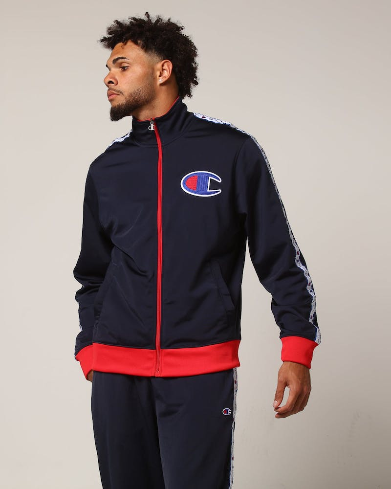 Champion Track Jacket Navy/Scarlet