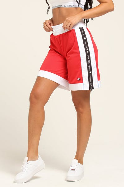 Champion Women's  Mesh Short Red