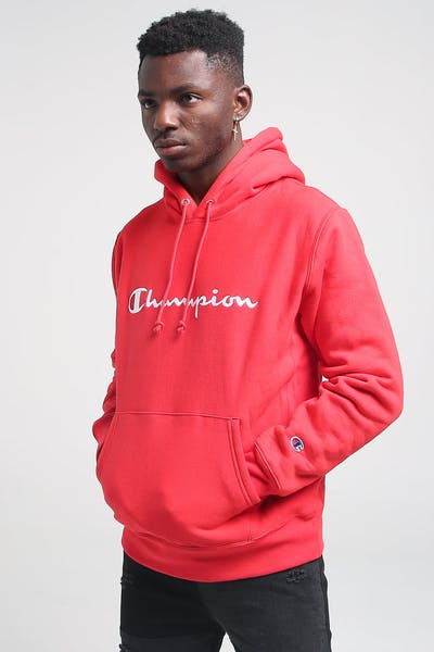 Champion Reverse Weave Embroidered Hood Scarlet