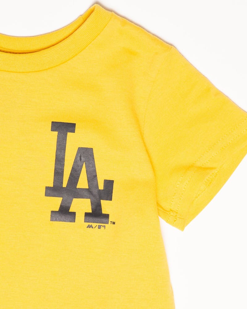 Majestic Athletic Toddler Los Angeles Dodgers Team Logo Tee Gold