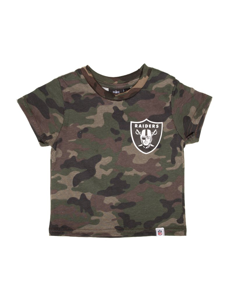Majestic Athletic Toddler Raiders Team Logo Tee Camo/White