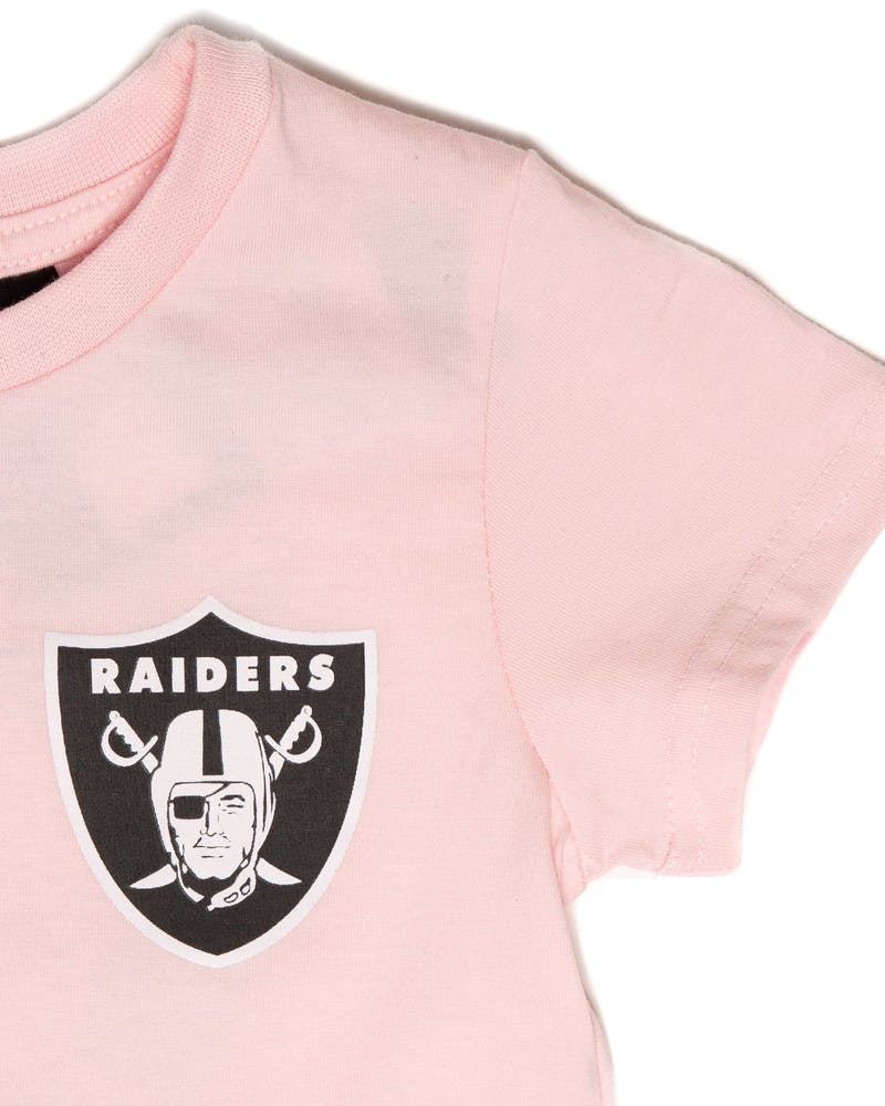 Majestic Athletic Toddler Raiders Team Logo Tee Pink