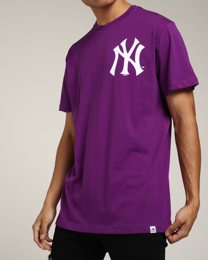 Majestic Athletic New York Yankees Jeaner Tee Purple