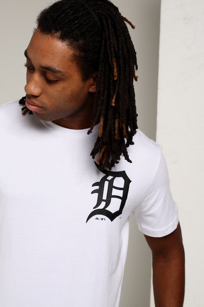 Majestic Athletic Detroit Tigers Jeaner Tee White