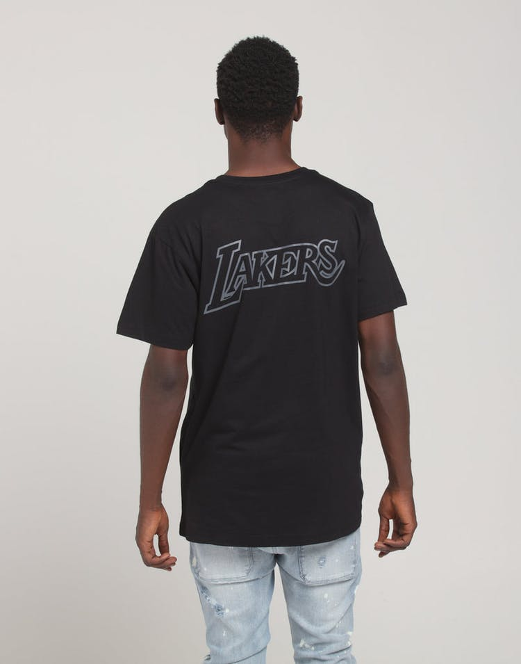 Mitchell & Ness Los Angeles Lakers Tonal Wordmark SS Tee Black