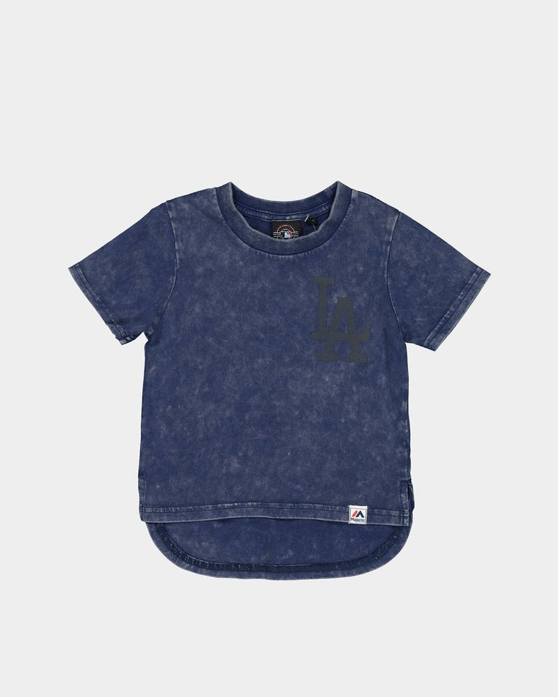 MAJESTIC ATHLETIC TODDLER LOS ANGELES DODGERS BICESTER TEE WASHED NAVY