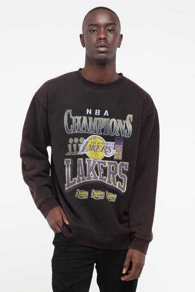 Mitchell & Ness Los Angeles Lakers Vintage Champs Crew Black