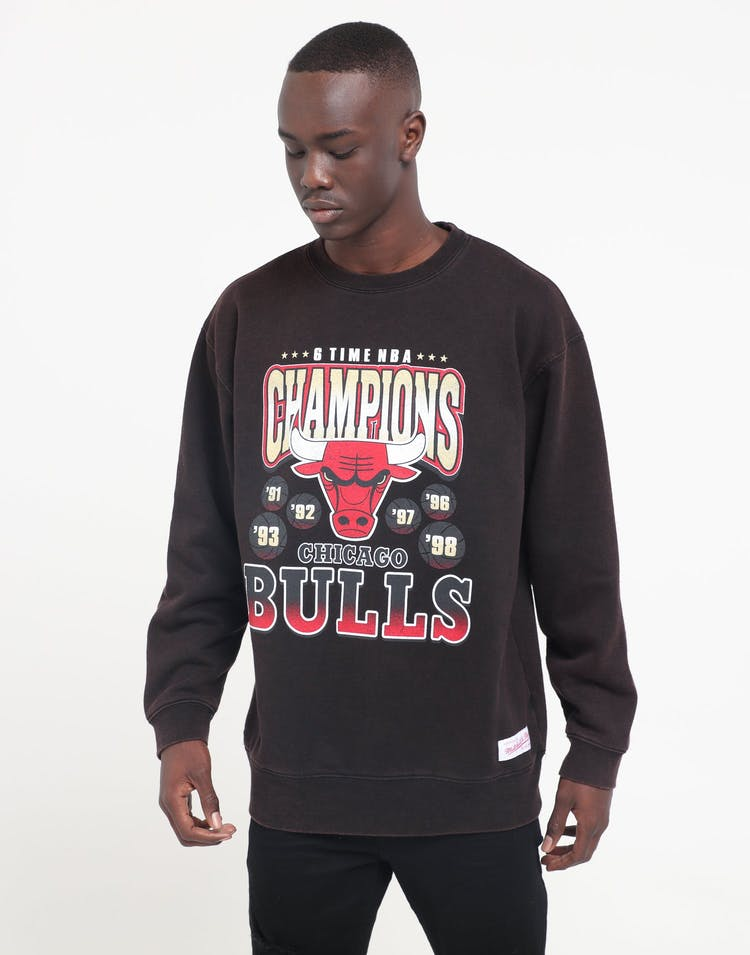 Mitchell & Ness Chicago Bulls Vintage Champs Crew Black