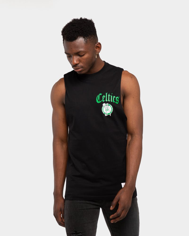 Mitchell & Ness Boston Celtics Old English Muscle Black