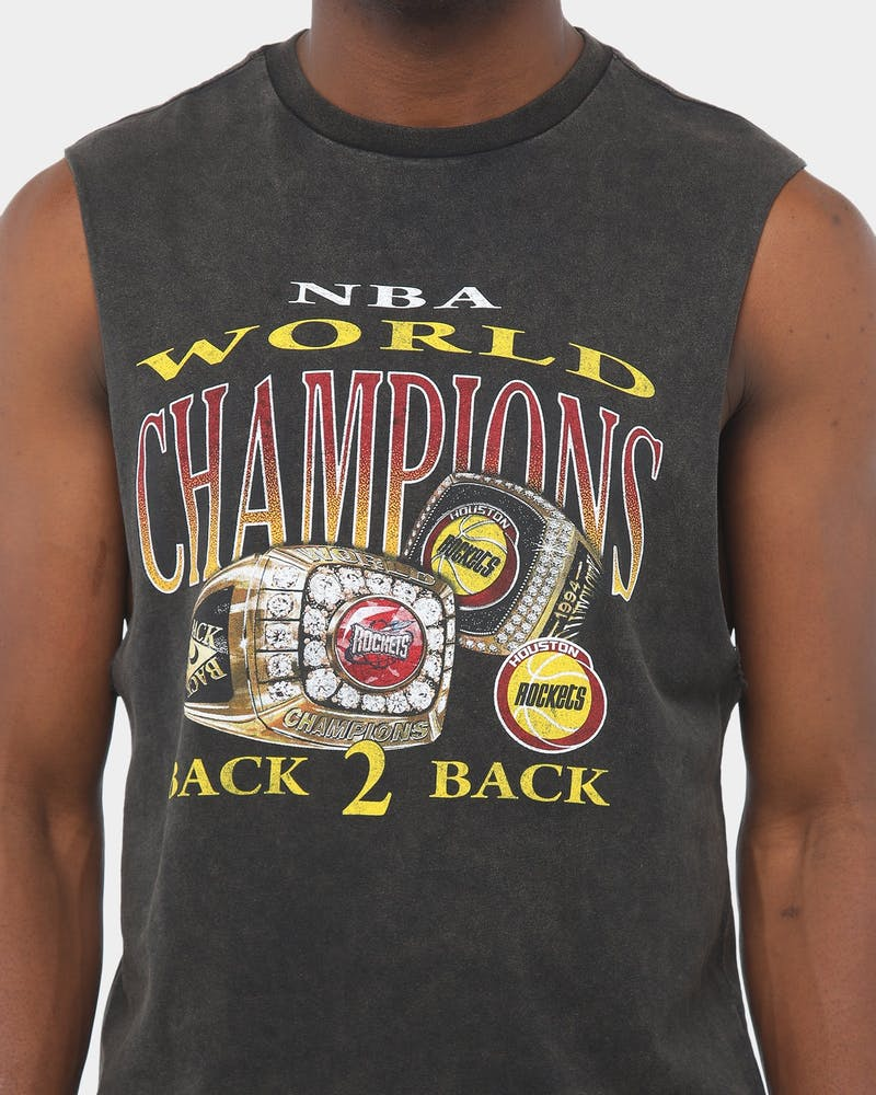 Mitchell & Ness Houston Rockets Vintage Champ Rings Muscle Black