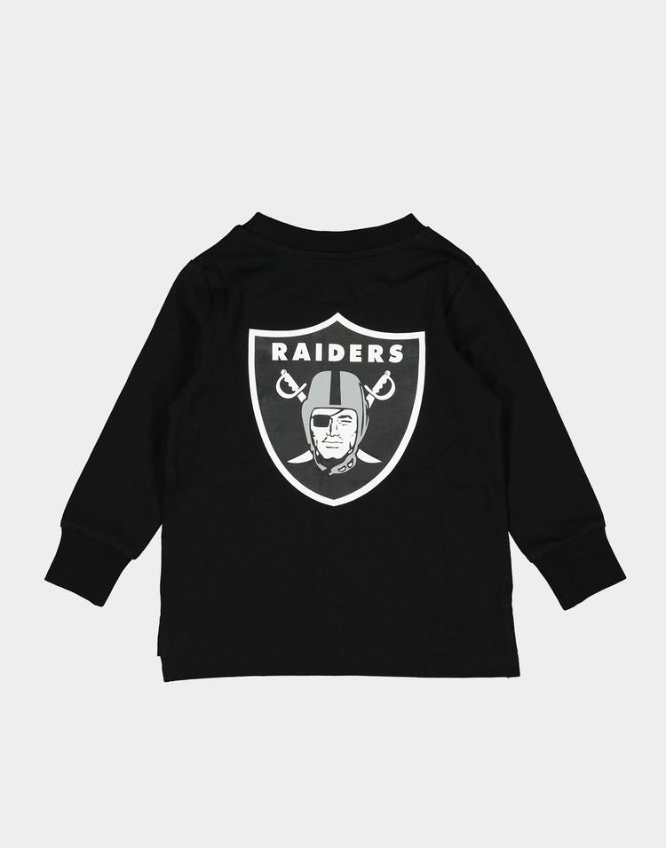 Majestic Athletic Toddlers Raiders Levare LS Tee Black