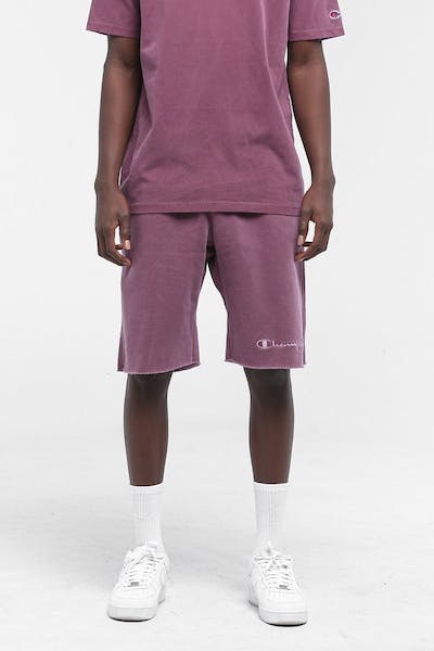 Champion Reverse Weave Dyed Washed Short Jogger Burgundy