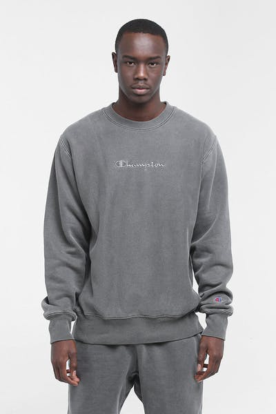 Champion Dyed Washed Crew Vertigo Grey
