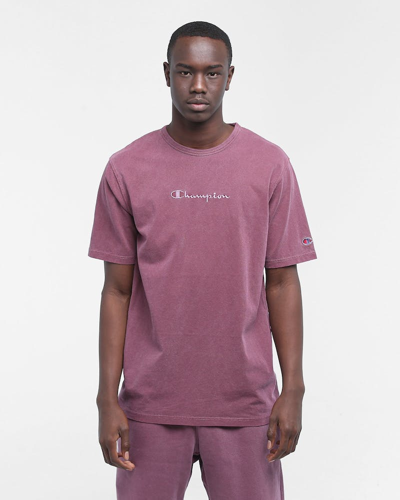 Champion Dyed Washed Tee Jogger Burgundy