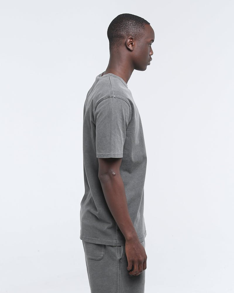 Champion Dyed Washed Tee Vertigo Grey