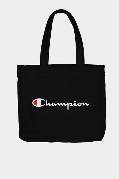 CHAMPION REVERSE WEAVE TOTE BAG BLACK