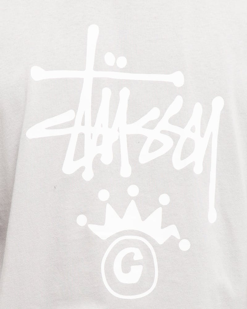 Stussy Copyright Crown SS Tee Flat Grey