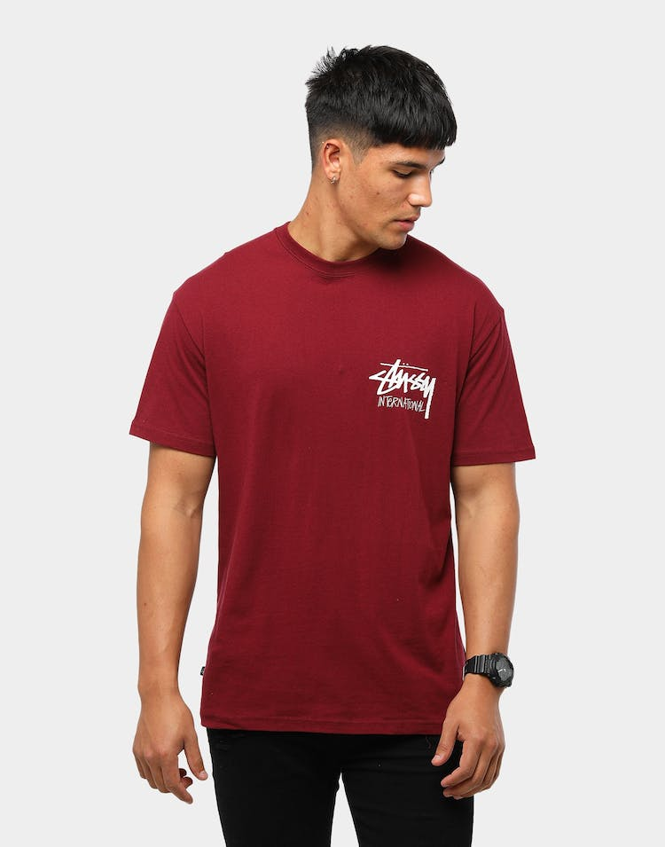 Stussy Men's Solid Stock International T-Shirt Grapevine