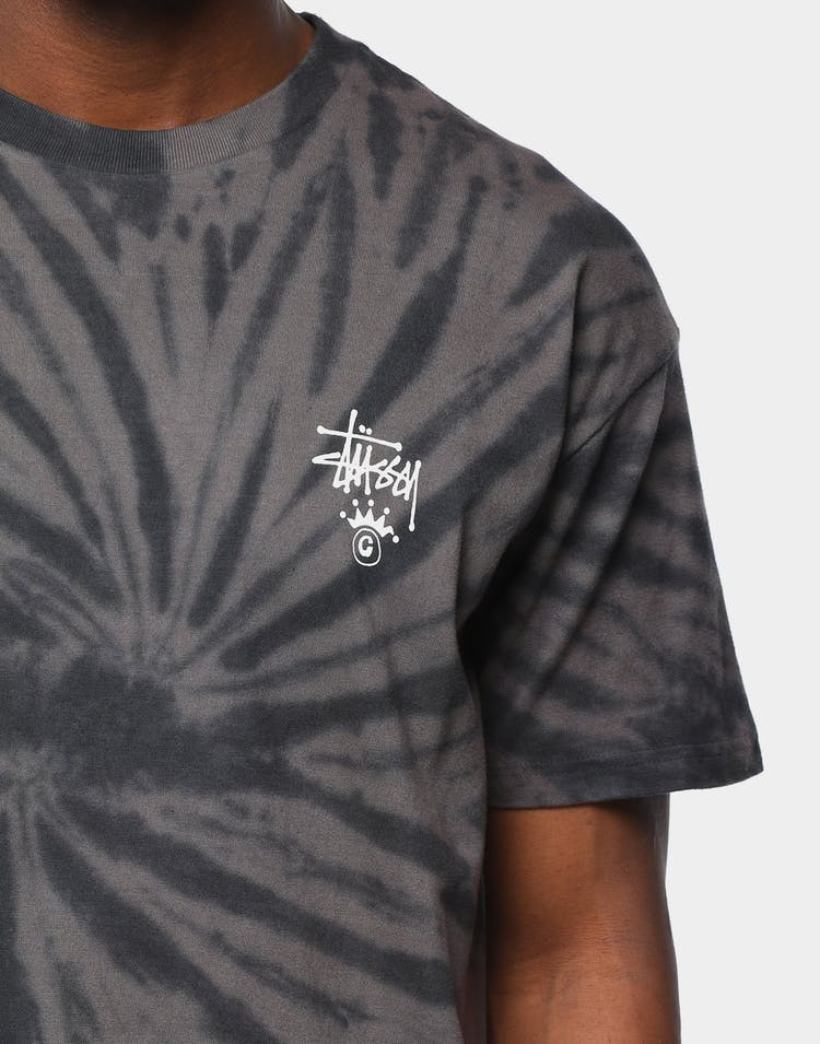 Stussy Men's Tie Dye Graffiti Short Sleeve T-Shirt Black