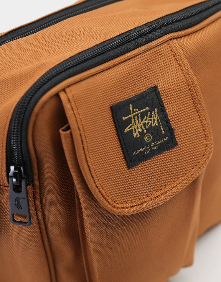 Stussy Men's Workwear Messenger Bag Tan