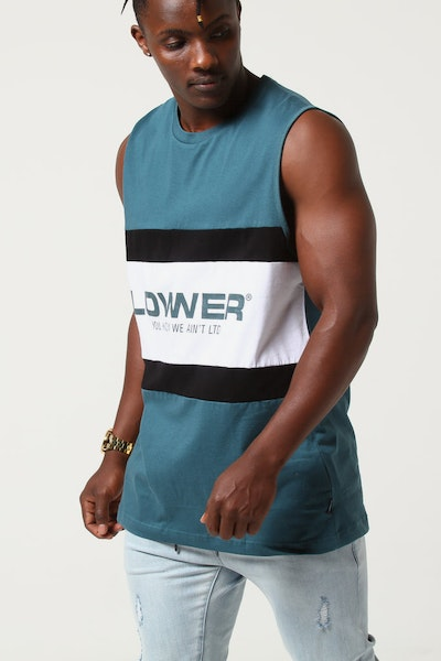 Lower Panel Cut Tank Euro Emerald/Black