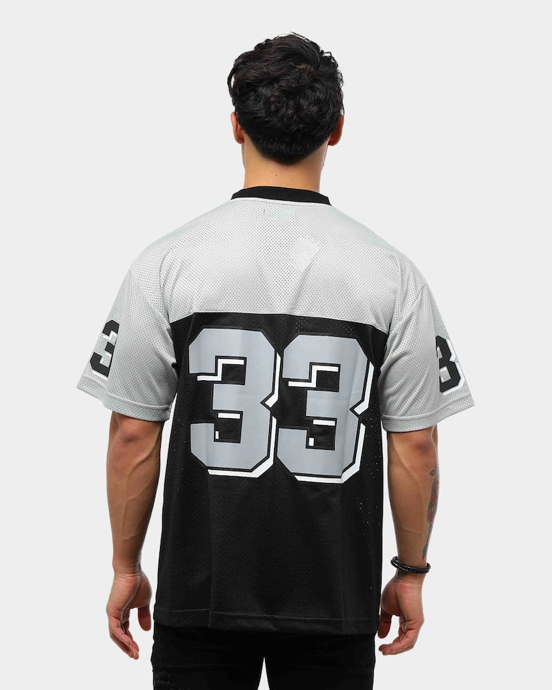 Lower Men's Quarterback Football Tee Black/Grey