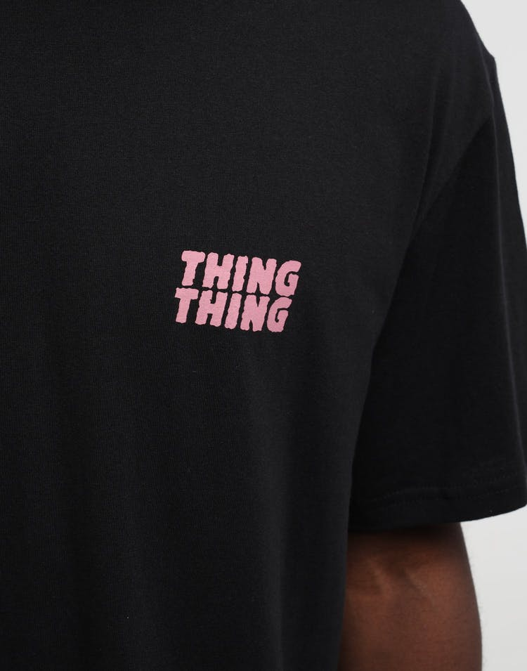 Thing Thing Mid Tee Stack Print Black