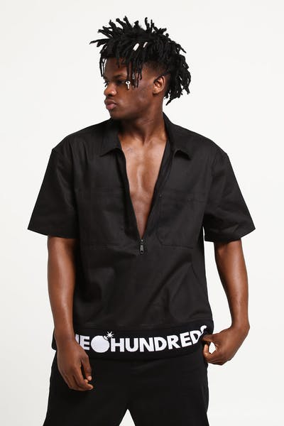 The Hundreds Leisure Woven Tee Black