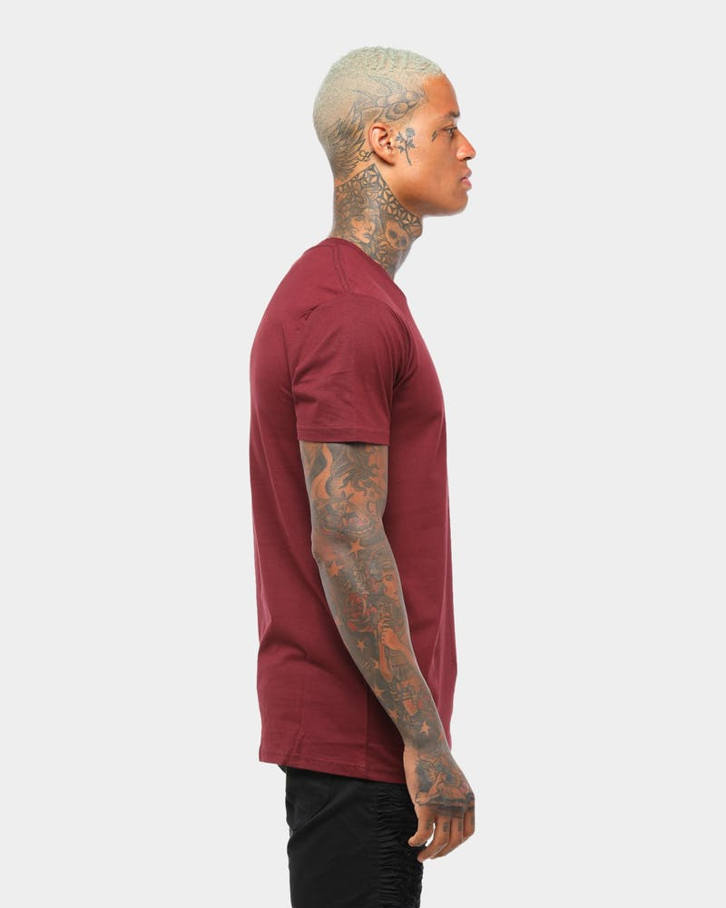 AS Colour Plain Staple T Burgundy