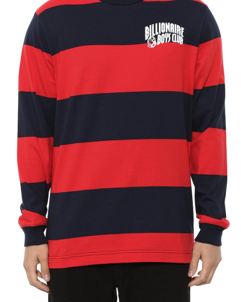 Stripey Long Sleeve Tee Red/navy