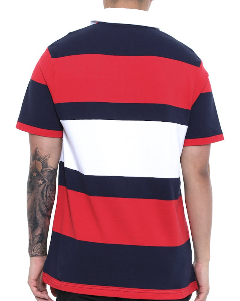 Polo Tee Red/navy