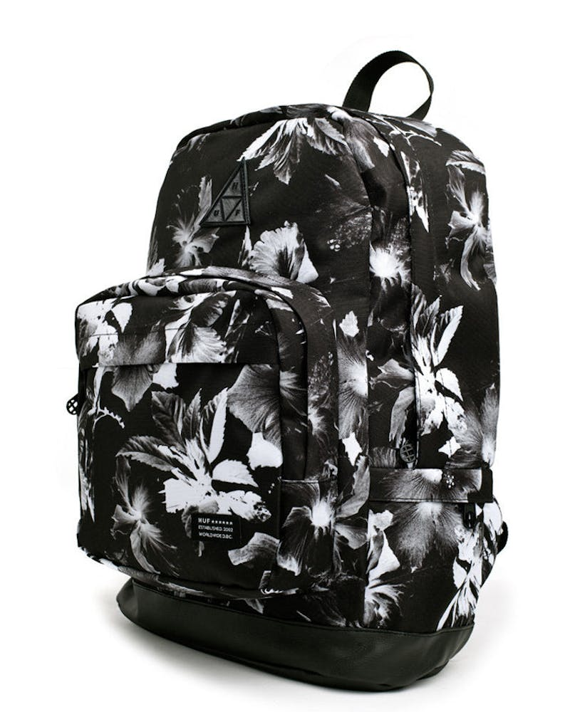 Floral Back Pack Black