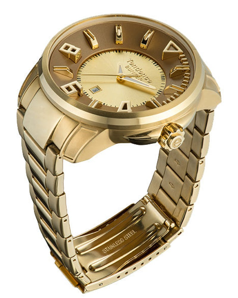 Bunker 3H Watch Gold