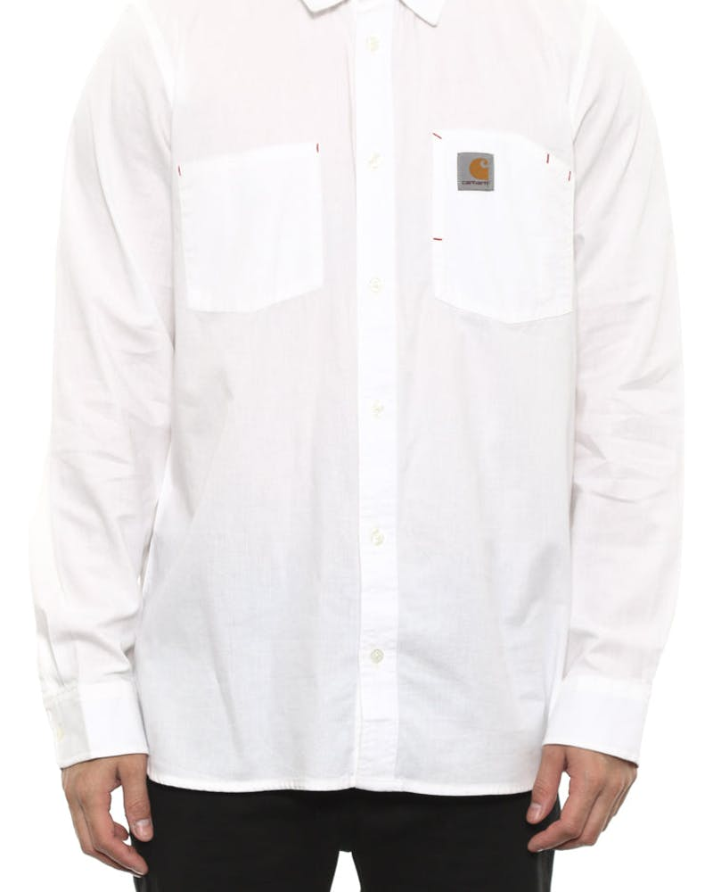 State Long Sleeve Shirt White