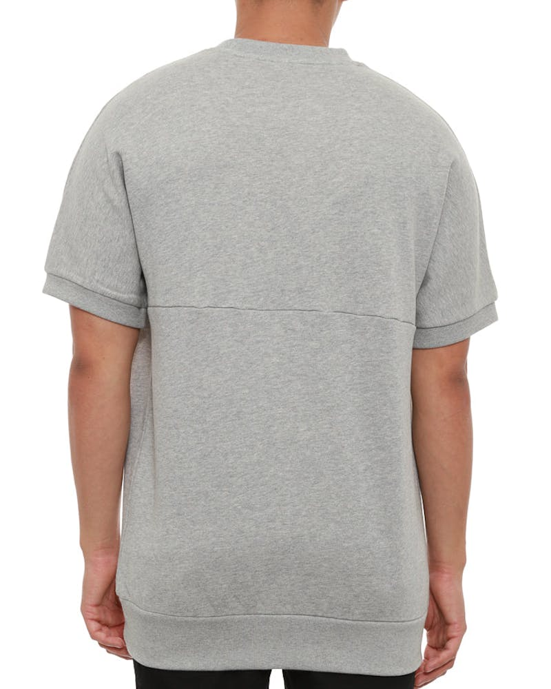 Cocaine Short Sleeve Crew Grey/black