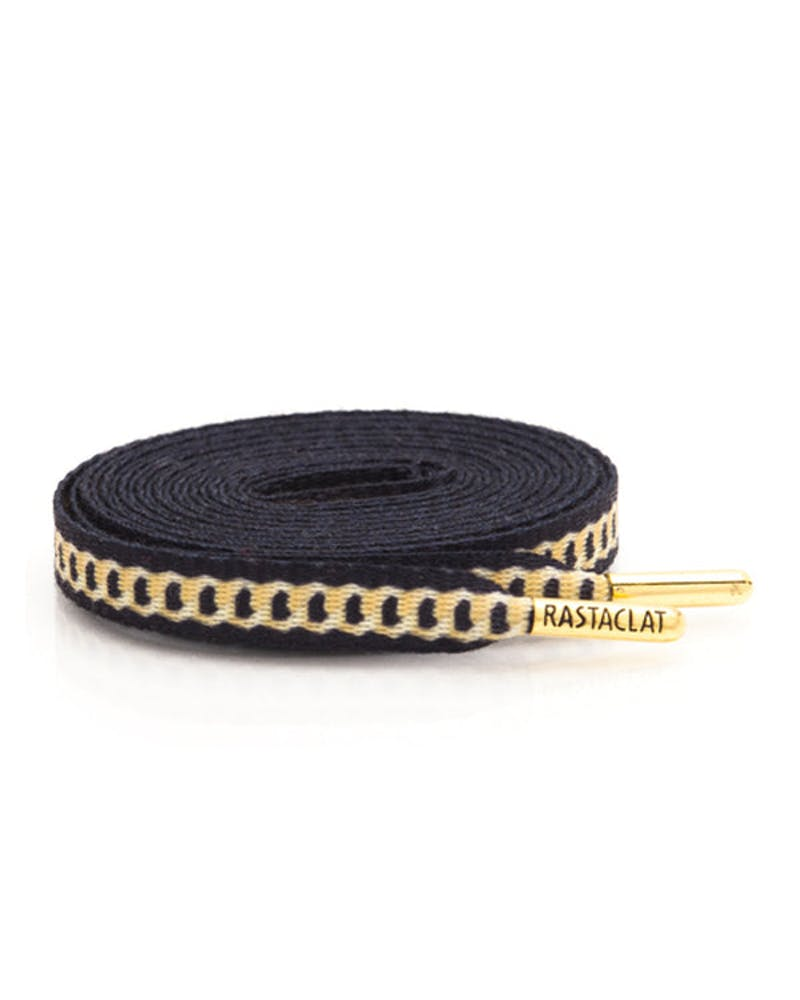 Rastaclat Flat Shoelace Black/gold