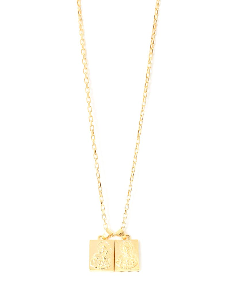 Scapular Necklace Gold