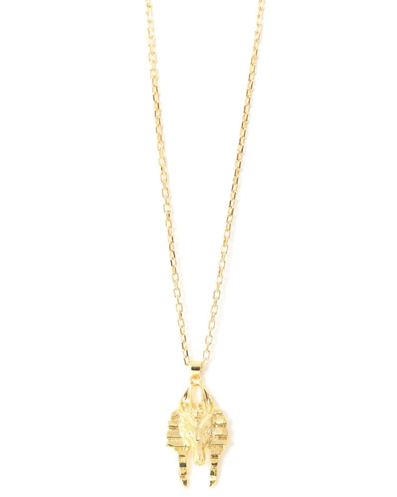 Micro Anubis Necklace Gold