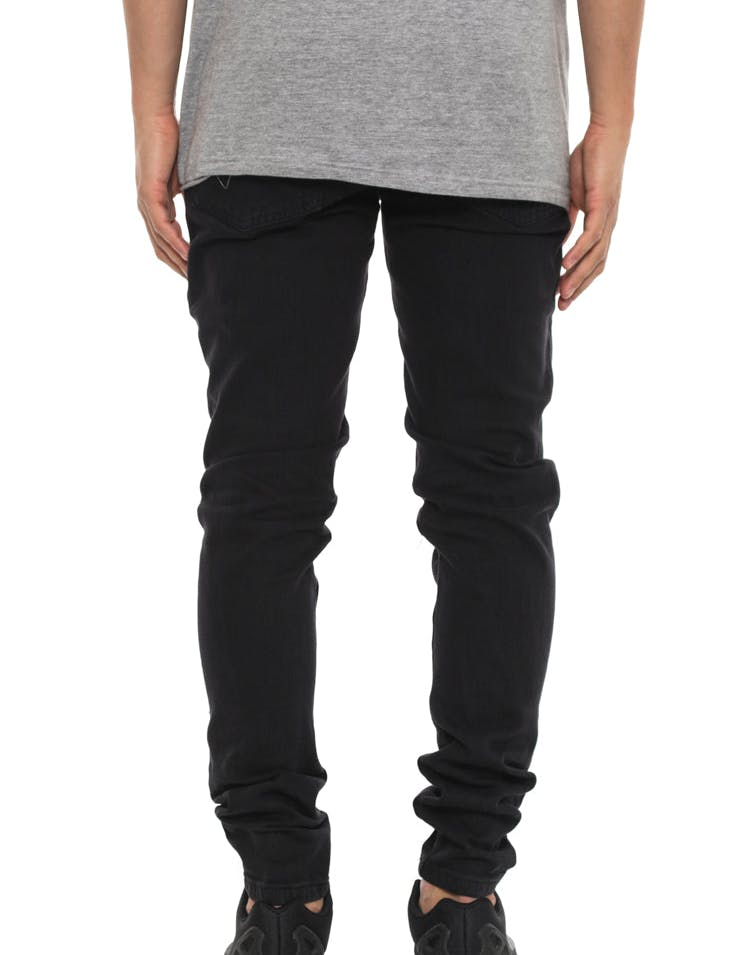 Courant Distress Knee Jean Black