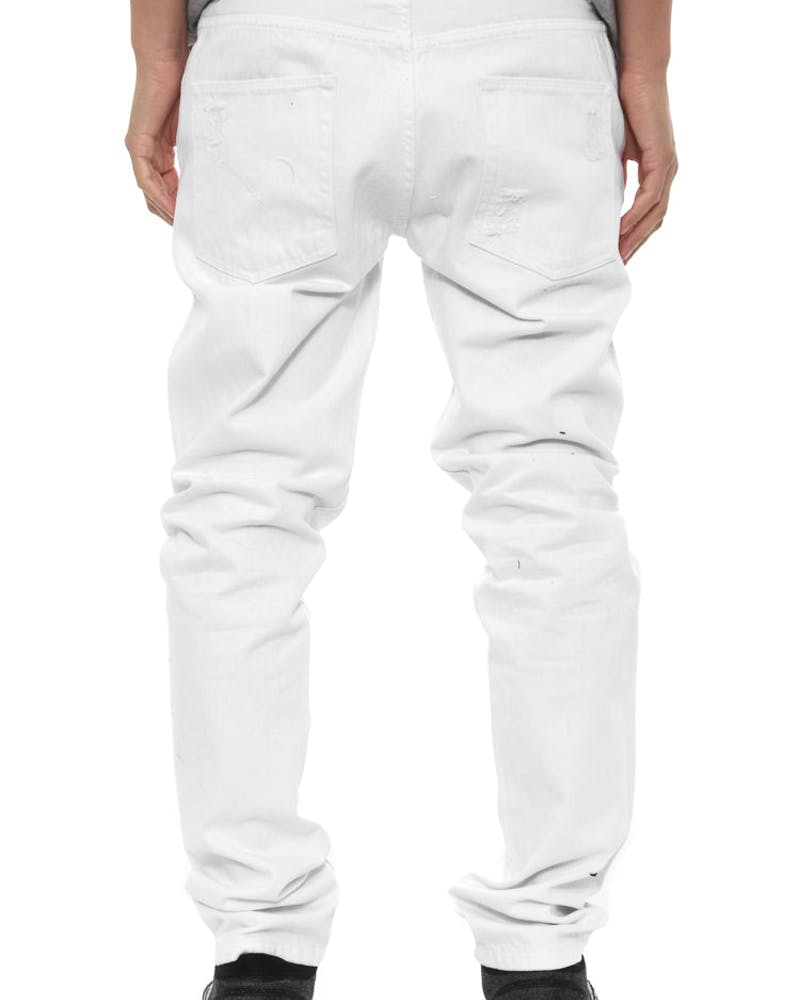 Consumed Denim Jean White