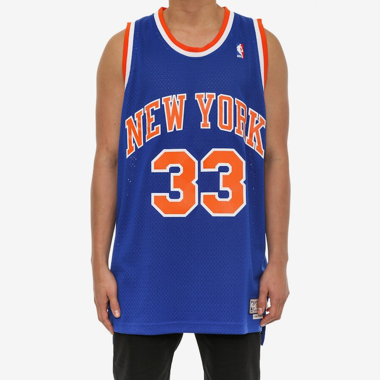 New York Knicks 33 Hwc Jersey Blue