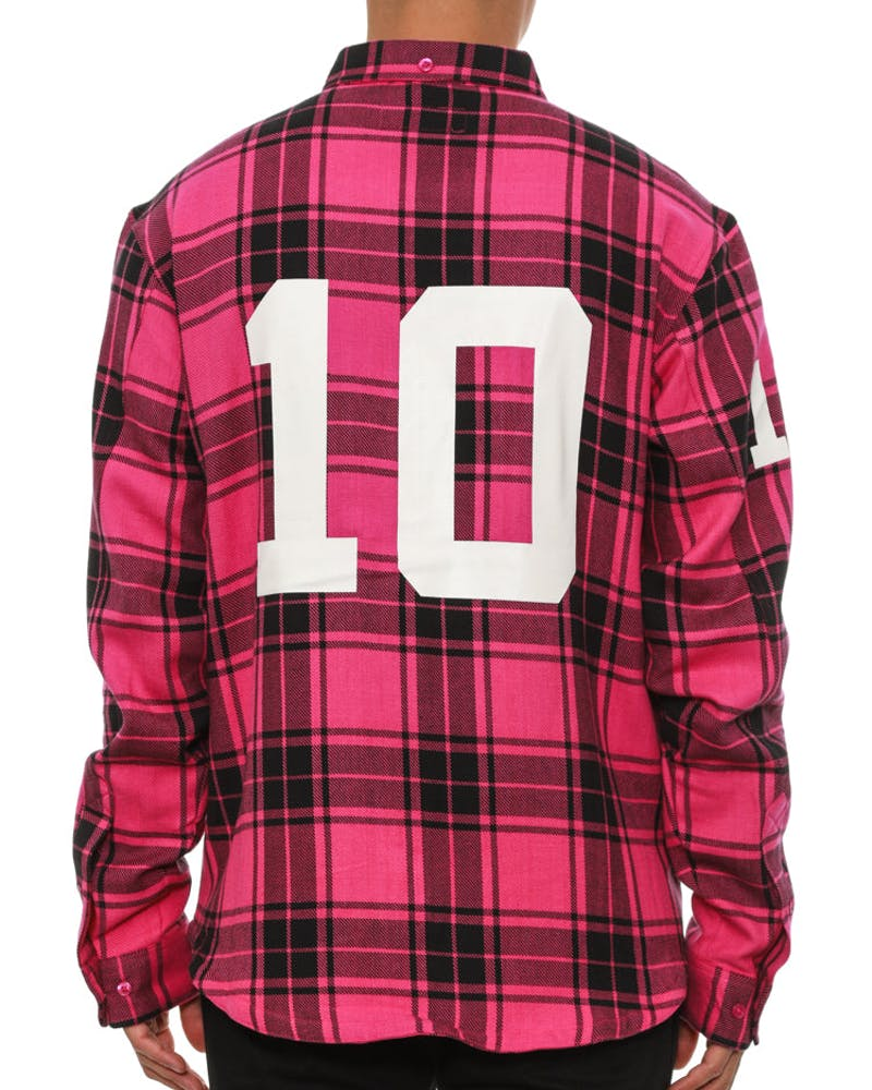 Big 10 Button up Pink