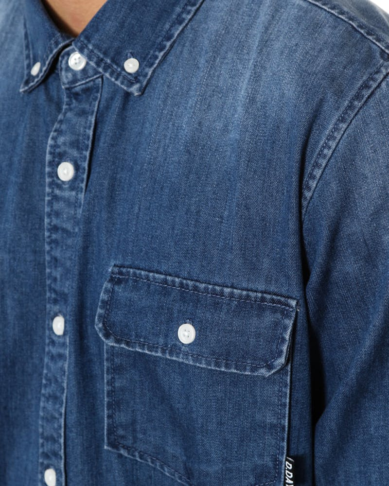 Joe Denim Lsl Shirt Blue Denim