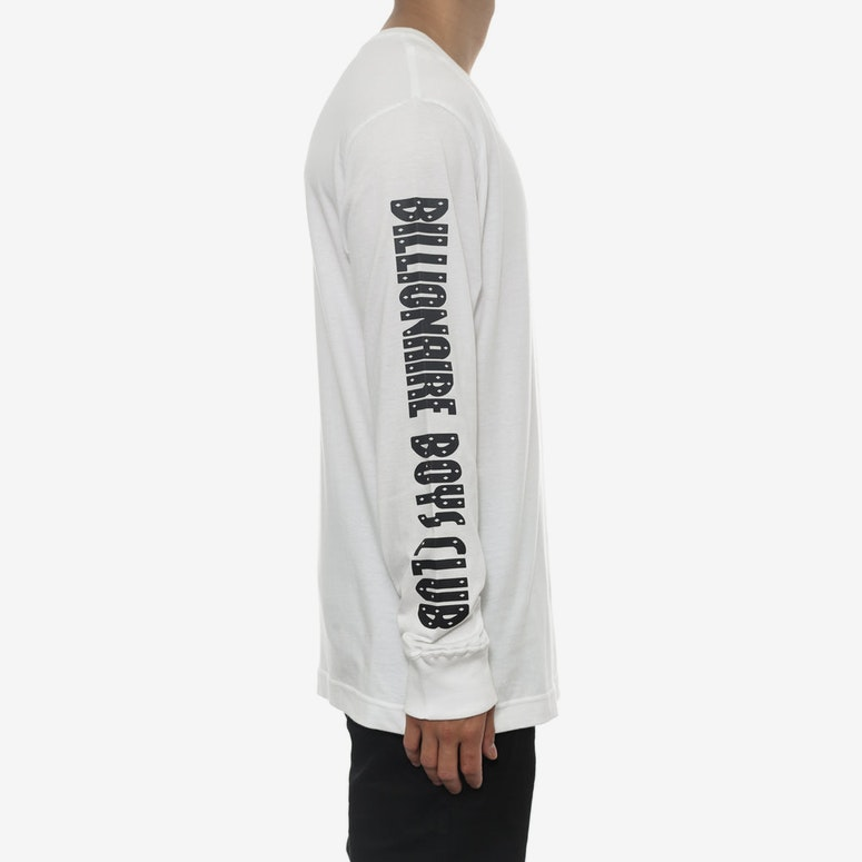 B Logo Long Sleeve Tee White/black