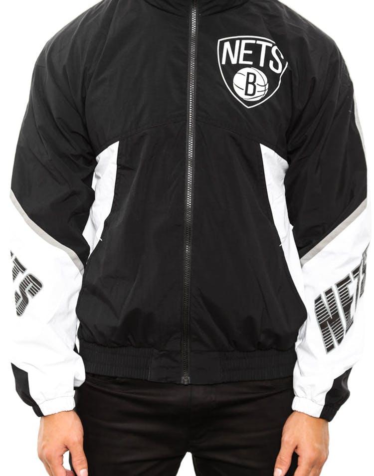 d889b41fd Mitchell & Ness Brooklyn Nets Windbreaker Black – Culture Kings NZ