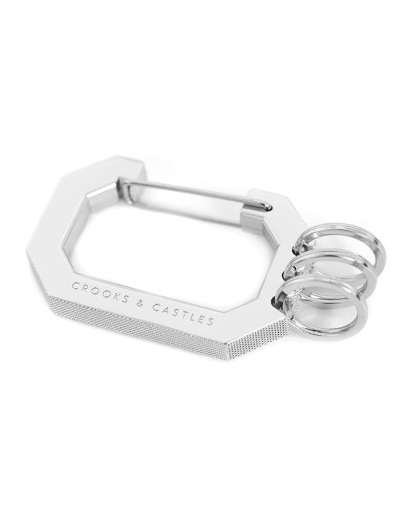 Metal C-note Carabiner Silver/black
