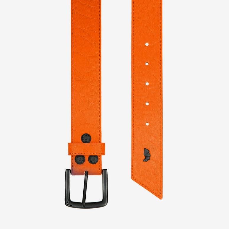 Crackle Belt Orange