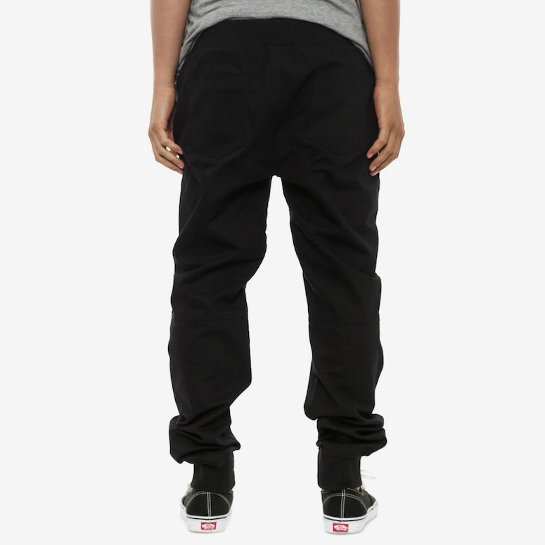 Cotton Moto Pants Black